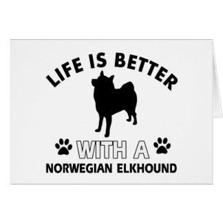 Norwegian Elkhound designs Greeting Card