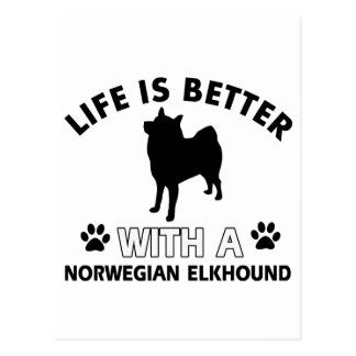 Norwegian Elkhound designs Postcard