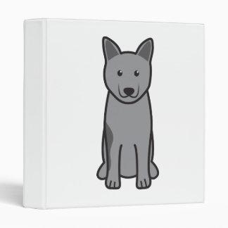 Norwegian Elkhound Dog Cartoon 3 Ring Binders