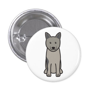 Norwegian Elkhound Dog Cartoon Pin