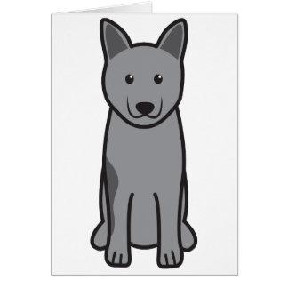 Norwegian Elkhound Dog Cartoon Greeting Card