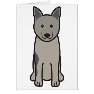 Norwegian Elkhound Dog Cartoon Greeting Cards