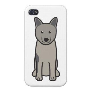 Norwegian Elkhound Dog Cartoon iPhone 4 Covers