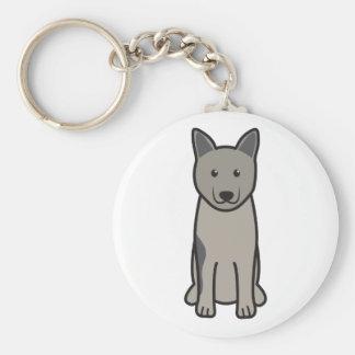 Norwegian Elkhound Dog Cartoon Keychains