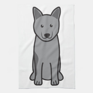 Norwegian Elkhound Dog Cartoon Hand Towel