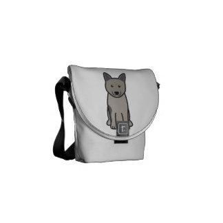 Norwegian Elkhound Dog Cartoon Messenger Bag