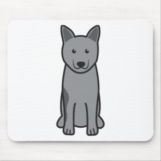 Norwegian Elkhound Dog Cartoon Mousepads