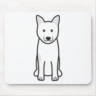 Norwegian Elkhound Dog Cartoon Mousepad