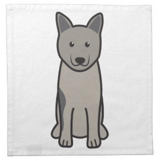 Norwegian Elkhound Dog Cartoon Cloth Napkins