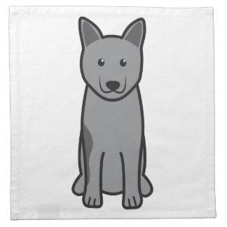 Norwegian Elkhound Dog Cartoon Cloth Napkin
