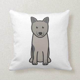 Norwegian Elkhound Dog Cartoon Pillow