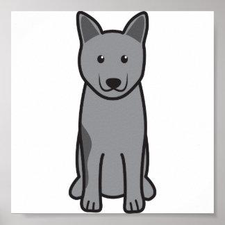 Norwegian Elkhound Dog Cartoon Posters