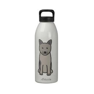 Norwegian Elkhound Dog Cartoon Drinking Bottle