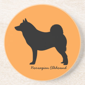 Norwegian Elkhound Drink Coaster