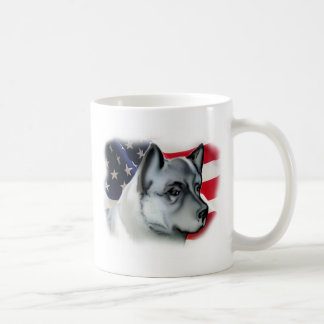 NORWEGIAN ELKHOUND FLAG CLASSIC WHITE COFFEE MUG