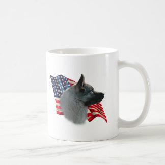 Norwegian Elkhound Flag Coffee Mug