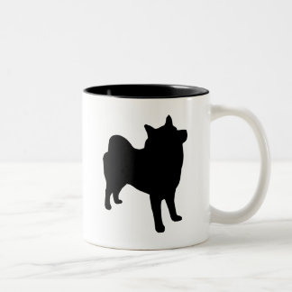 Norwegian Elkhound Gear Two-Tone Coffee Mug