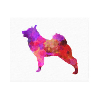 Norwegian Elkhound in watercolor Canvas Print