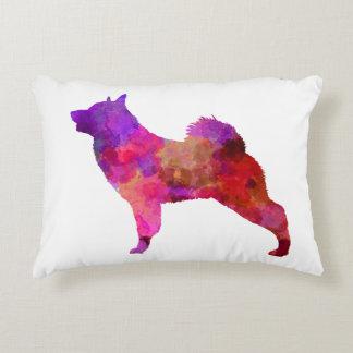Norwegian Elkhound in watercolor Decorative Pillow