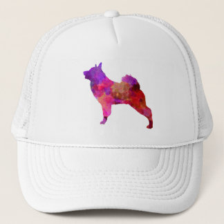 Norwegian Elkhound in watercolor Trucker Hat