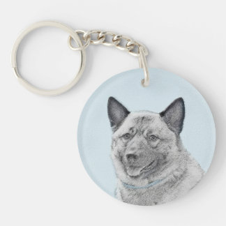 Norwegian Elkhound Keychain