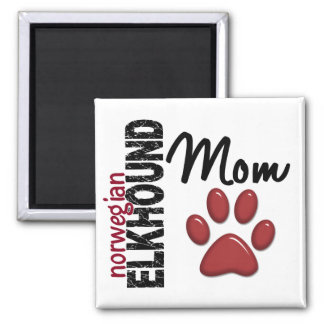 Norwegian Elkhound Mom 2 Square Magnet