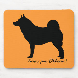 Norwegian Elkhound Mouse Pads