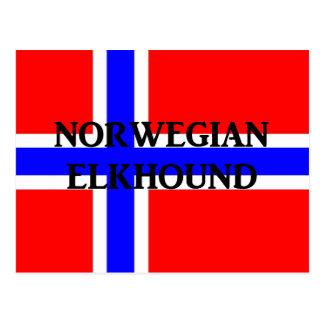 norwegian elkhound name norway-flag.png postcard