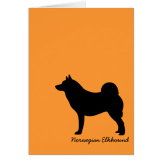 Norwegian Elkhound Note Card