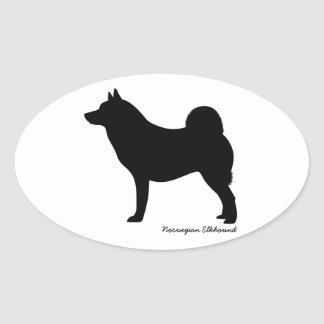 Norwegian Elkhound Oval Sticker