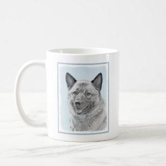 Norwegian Elkhound Painting - Original Dog Art Coffee Mug