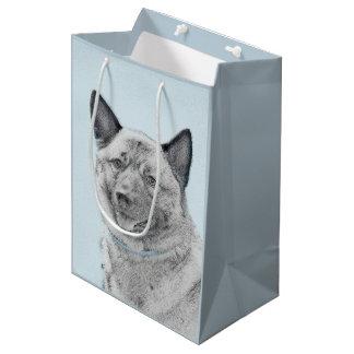 Norwegian Elkhound Painting - Original Dog Art Medium Gift Bag