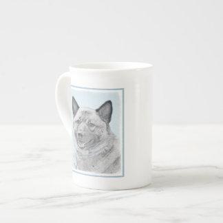 Norwegian Elkhound Painting - Original Dog Art Tea Cup