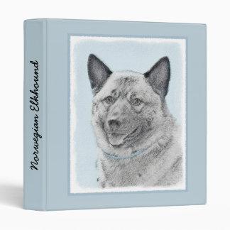 Norwegian Elkhound Painting - Original Dog Art Vinyl Binders