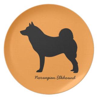 Norwegian Elkhound Party Plates