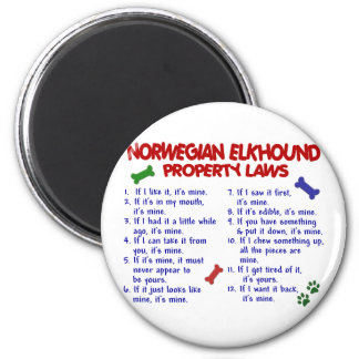 NORWEGIAN ELKHOUND Property Laws 2 2 Inch Round Magnet
