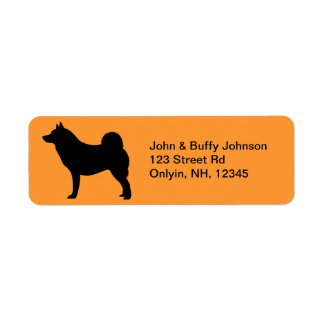 Norwegian Elkhound Return Address Label