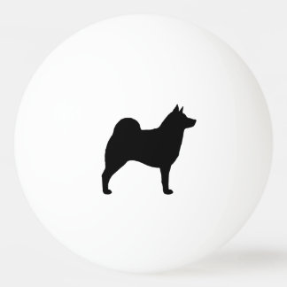 Norwegian Elkhound Silhouette Ping Pong Ball