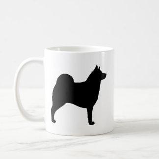 Norwegian Elkhound Silhouettes Coffee Mug
