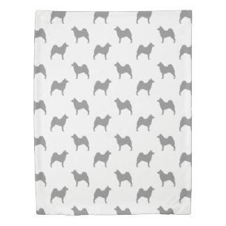Norwegian Elkhound Silhouettes Pattern Duvet Cover