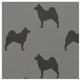 Norwegian Elkhound Silhouettes Pattern Fabric