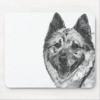 Norwegian Elkhound Sketch Mouse Pad
