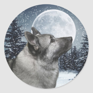 Norwegian Elkhound Sticker