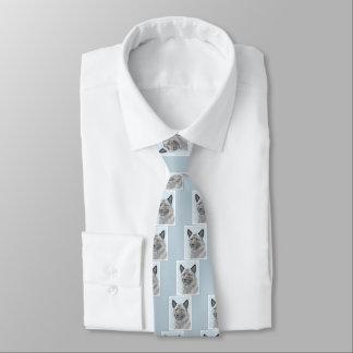 Norwegian Elkhound Tie