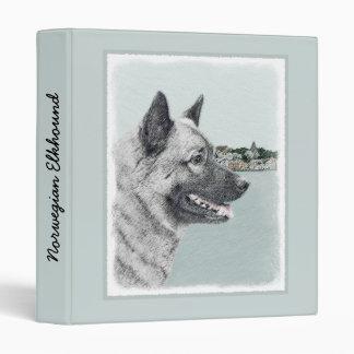 Norwegian Elkhound Vinyl Binders