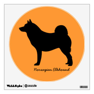 Norwegian Elkhound Wall Decal