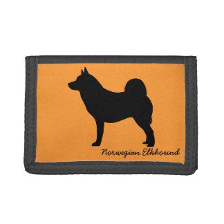 Norwegian Elkhound Trifold Wallets