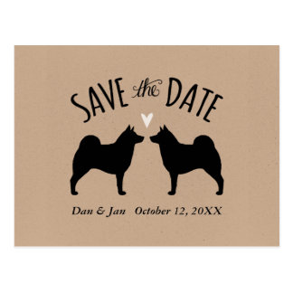 Norwegian Elkhounds Wedding Save the Date Postcard