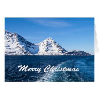 Norwegian fjord christmas card