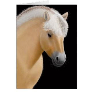 Norwegian Fjord Horse Card